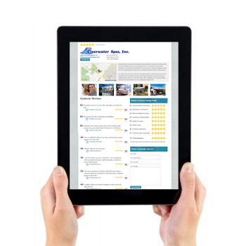 Business profile on tablet